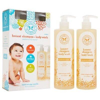 The Honest Company Shampoo & Body Wash 17 oz x 2 = 34 oz - NEW