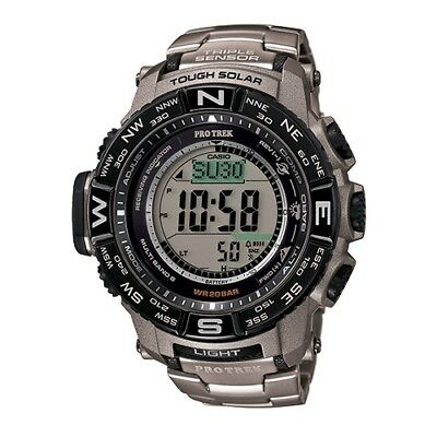 -NEW- Casio ProTrek Triple Sensor, Atomic Timekeeping, Solar Watch PRW3500T-7