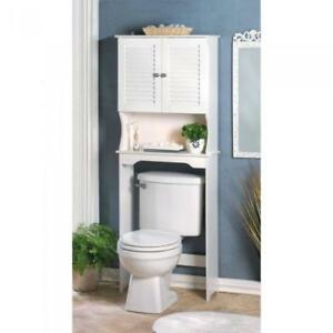 Bathroom Storage Over The Toilet White Cabinet Organizer Shelf - BRAND NEW - FREE SHIPPING