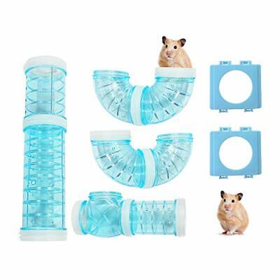 Hamster Tubes with 2 Pipe Connection Plates, Adventure External Pipe Set (Blue)