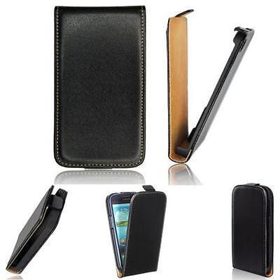 Trendy Handy Flip Tasche f Samsung Galaxy Core 2 SM-G355 Case Etui Hülle Schwarz (Etui Samsung Galaxy Core 2)