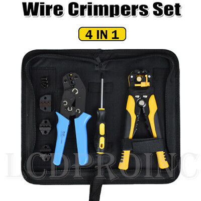 4 In 1 Wire Crimpers Ratcheting Crimping Pliers Stripper Cord End Terminals Tool