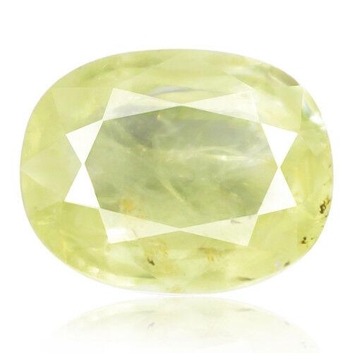 Tsavorite Family Garnet 5.44ct yellowish green color 100% natural earth mined