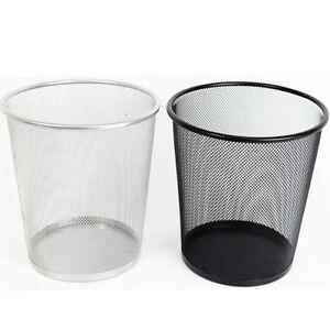 Metal Mesh Waste Paper Bin Wastebasket For Office Home Use