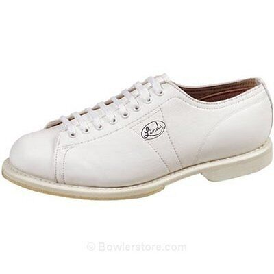 Linds Men's Classic White Left Handed Bowling Shoes Size 14 Eee In Box