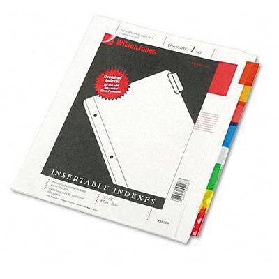 "Wilson Jones Oversized Insertable Index Divider - 9.25"" X 11"" - White (55208)"