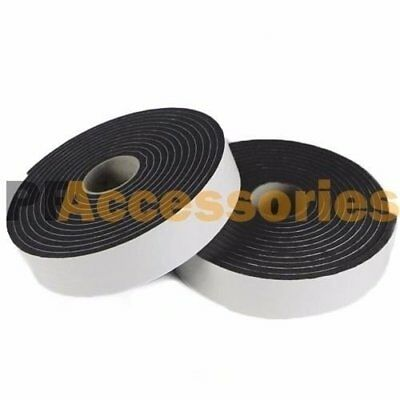 2 Roll 23 X 16 Ft Double Sided Faced Foam Attachment Adhesive Mount Tape Black