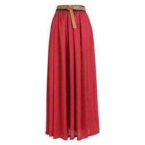 Pleated Maxi Skirt | eBay
