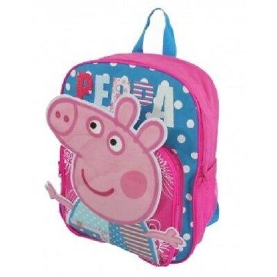 Peppa Pig Book Bag (Peppa Pig Cartoon Girls Cute Pink Large School Backpack Book Bag Kids)