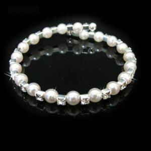 Childrens Fashion Jewelry Freshwater Pearl Ball Bracelet Xmas Present / Wedding