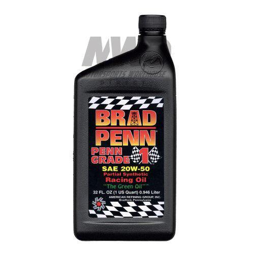 Brad penn grade 1 racing engine oil 20w50 semi synthetic for 20w 50w motor oil