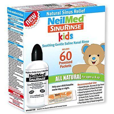 3 Pack NeilMed Kids Sinus Nasal Rinse All Natural Kit + 60 Premixed Packets Each segunda mano  Embacar hacia Argentina