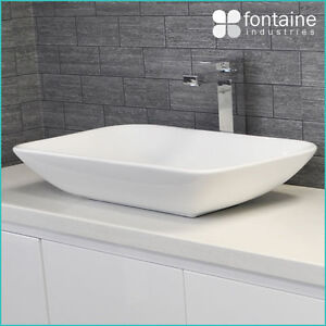 Details about Above Counter Basin Bathroom White Ceramic Modern Large ...