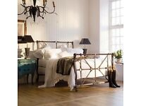 RRP £2875 AND SO TO BED HANDEL KING SIZE Designer BED,Equine,Horse,Equestrian,Tan