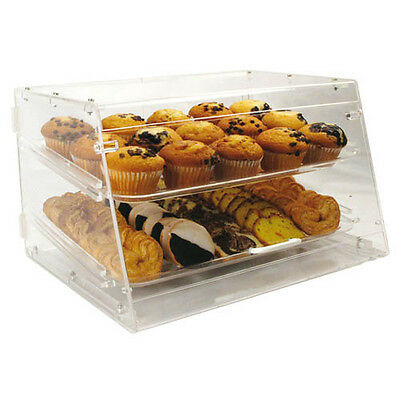 Winco Adc-2 21x18x12-inch Clear Acrylic Countertop Display Case With 2 Trays