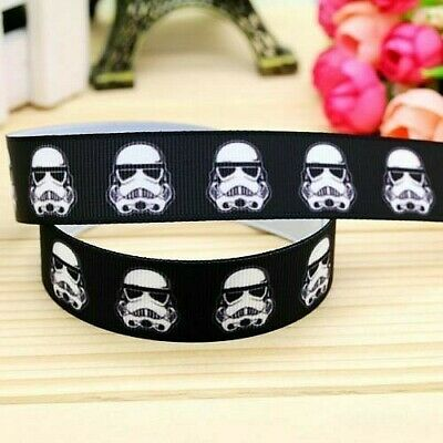 """Storm Trooper Star Wars Ribbon 7/8"""" (22mm) Wide.... 1m is only £1.39....FREE P&P"""