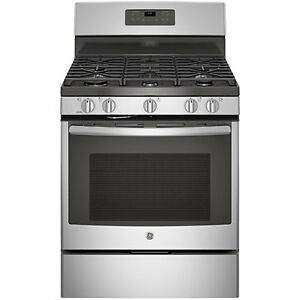 GE. BRAND NEW STOVE SELF-CLEAN GAS STAINLESS (JCGB660SEJSS)