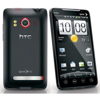 HTC EVO 4G Sprint Android Smartphone Black, No Contract