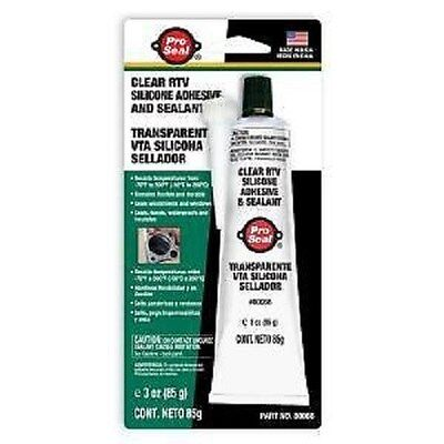 PRO-SEAL Clear RTV Silicone Adhesive & Sealant 80066  3 Ounce Tube PROSEAL