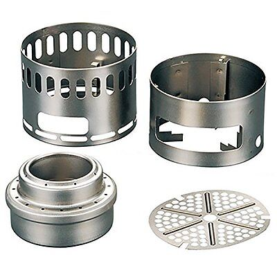kb10 EVERNEW EBY255 Ti Alcohol Stove Stand DX Set Titanium NEW from Japan