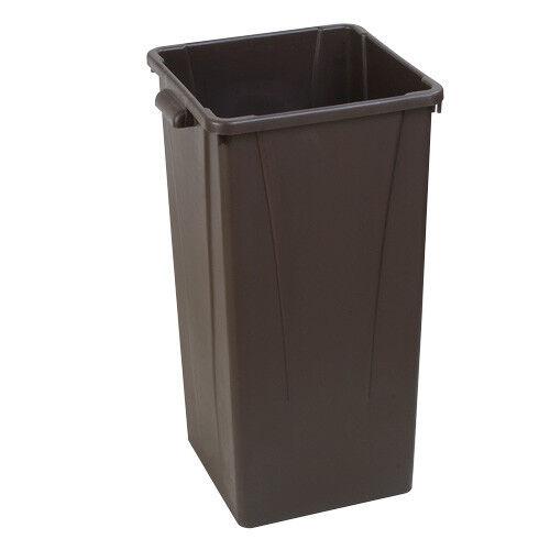 Carlisle Centurian Tall Square Waste Container, 23 Gallon Capacity, Beige
