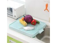 Plastic Dish Drainer Drip Tray Plate Cutlery Rack Kitchen Sink Rack-2 colours