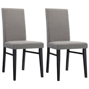*ELEMENTS* OAKLEY Transitional DINING CHAIRS - GREY (Pair)