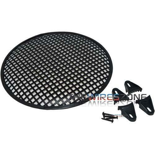 """12"""" Steel Speaker Subwoofer Sub Woofer Waffle Mesh Grill Cover w/ Clips & Screws"""