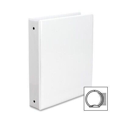 Avery Vinyl Round Ring 3-ring Binder 1-12 Capacity White Ea - Ave05726