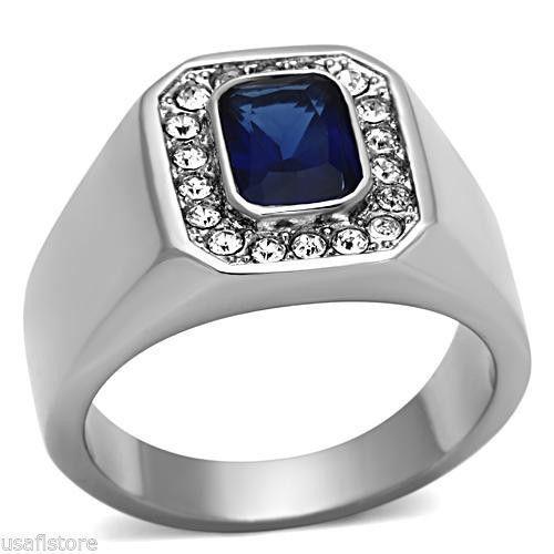 mens silver emerald ring ebay