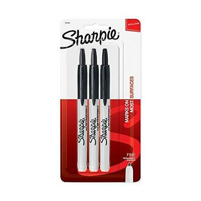 Sharpie Ultra Fine Point Retractable Markers Black 3 Pack Marker Art Pen Office