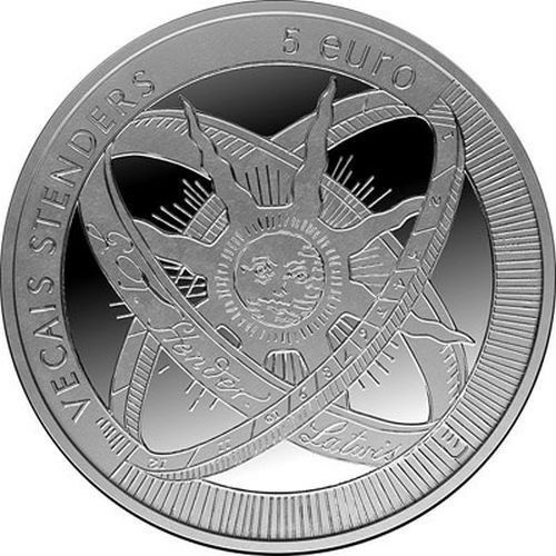 """2014 Latvia € 5 Euro Silver Proof Coin """"Old Stenders 300 Years"""""""