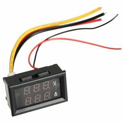 New Dc 100v 10a Voltmeter Ammeter Blue Red Led Digital Volt Meter Gauge
