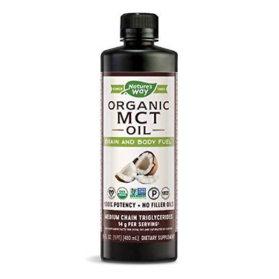 Nature's Way Organic MCT Oil From Coconut, Non-GMO, Gluten-f