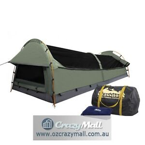 Deluxe Weisshorn Camping Swags Canvas Tent Different Color Sydney City Inner Sydney Preview