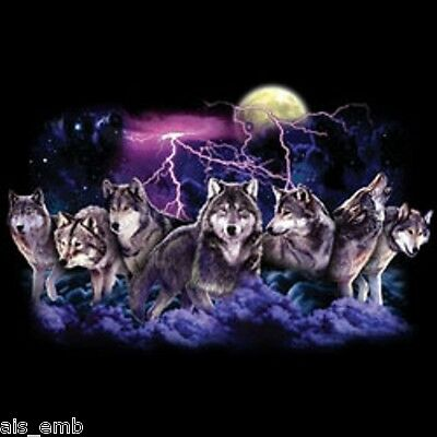 Wolf Pack Hunt Heat Press Transfer For T Shirt Tote Sweatshirt Quilt Fabric 220c