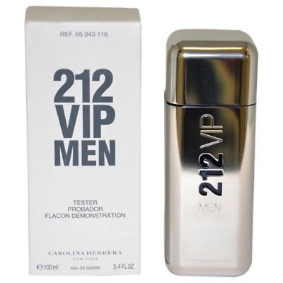 212 VIP MEN by Carolina Herrera for Men 3.4 oz * BRAND NEW TESTER W/CAP*nib*