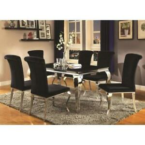 Coaster Furniture Glam Dining Set with 8 Chairs (2 Free!!) - New in box & ready to go home/ship today!!!