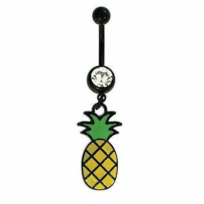 14G Unique Pineapple Dangle Belly Button Navel Ring Body Piercing Jewelry
