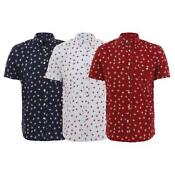 Mens Button Up Shirt Short Sleeve