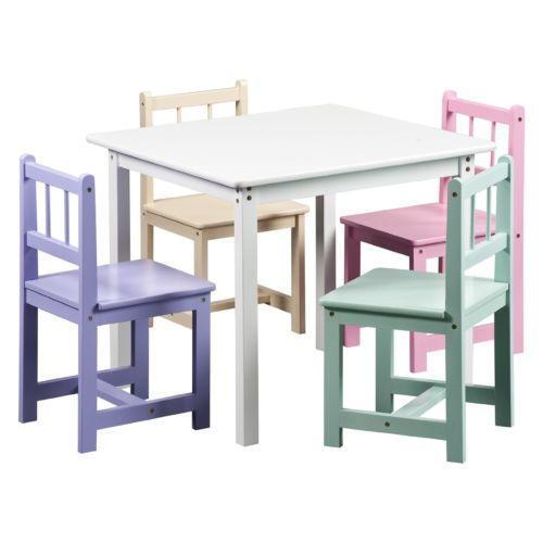 kids table and 4 chairs ebay. Black Bedroom Furniture Sets. Home Design Ideas