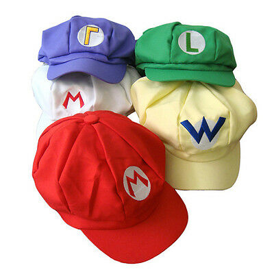 Mario Custome (Super Mario Brothers Hats Octagonal Caps Cosplay Custome Accessory Toy)