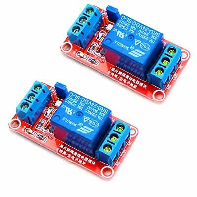 HiLetgo 2pcs DC 24V 1 Channel Relay Module with OPTO Isolation Support High o...