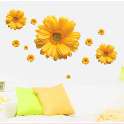 Home Decoration - Dais Flower 3D Removable Wall Stickers For Window Bedroom Kitchen Home Decor