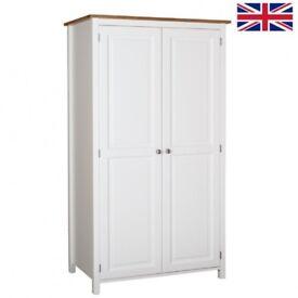Brand New Kenwith Painted Oak Top Wardrobe - Ex Display Model