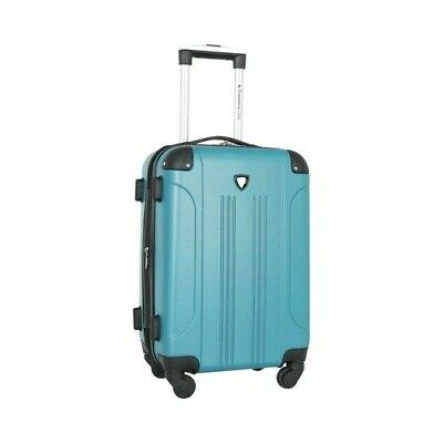 "Travelers Club Unisex  Chicago III 20"" Hardside Spinner Carry-On Teal Size OSFA"