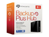 Seagate Backup Plus Hub 8 TB USB 3.0 Hard drive 8tb - BRAND NEW