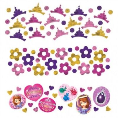 Sofia the First Disney Birthday Party Crepe Streamer and Confetti Party Supplies (Streamers And Confetti)