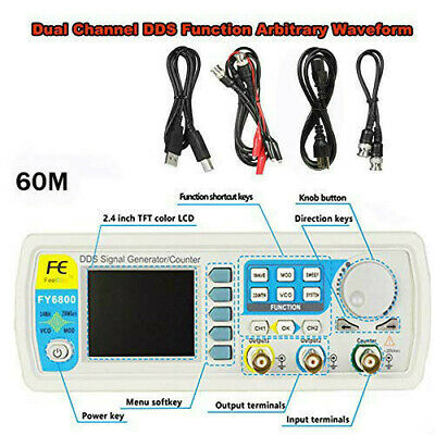 Fy6800-60m Signal Generator 2ch Dds Arbitrary Waveform Pulse Function Meter