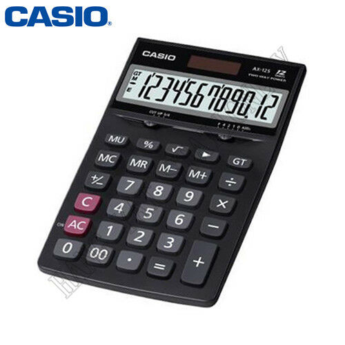 Casio 12 Digit EXTRA LARGE LCD Calculator AX-12S Plastic Keys MARK-UP % AX12s AX